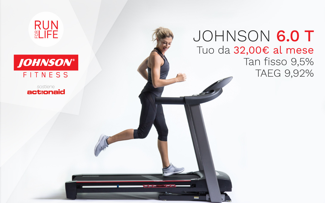 johnson fitness tapis roulant 6.0 action aid